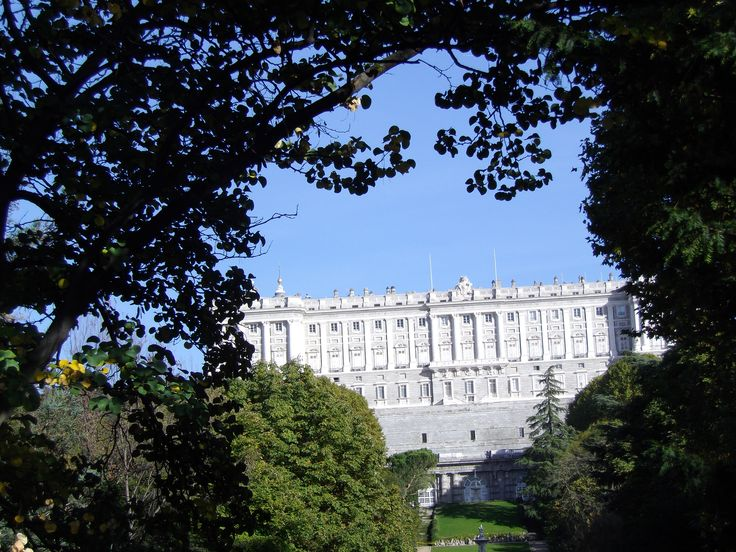 Madrid's Palace-the gardens in the back are open to the public and they're beautiful!