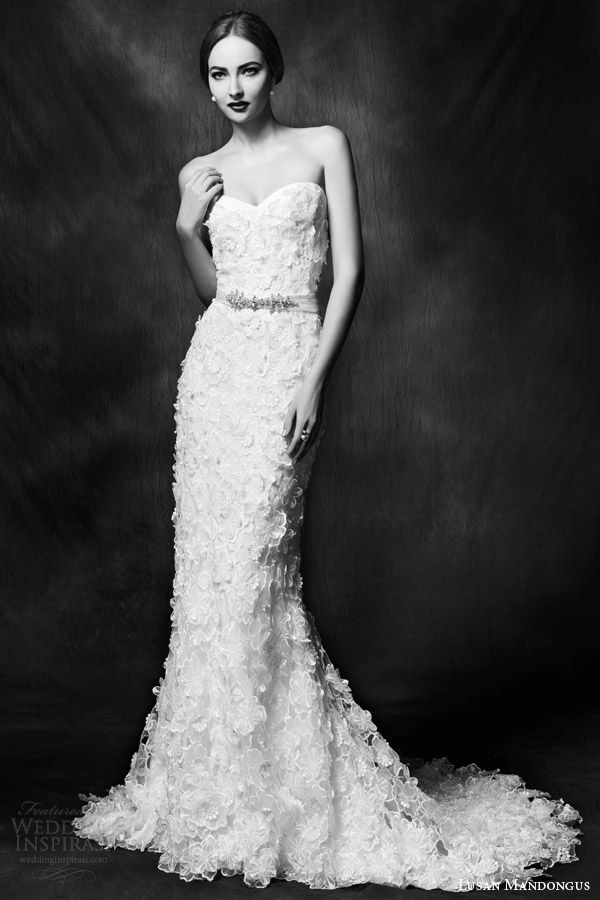 lusan mandongus wedding dresses 2015 strapless gown style lm2850b