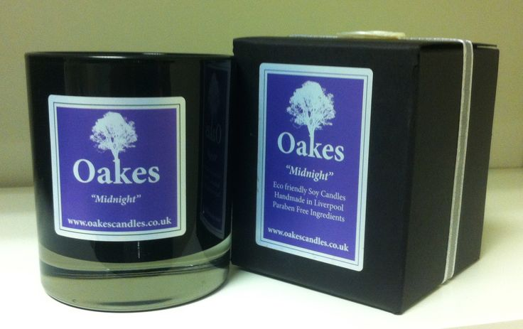 "Oakes ""Midnight"" Eco Soy Candle 220g To shop Oakes Candles follow the website link!"