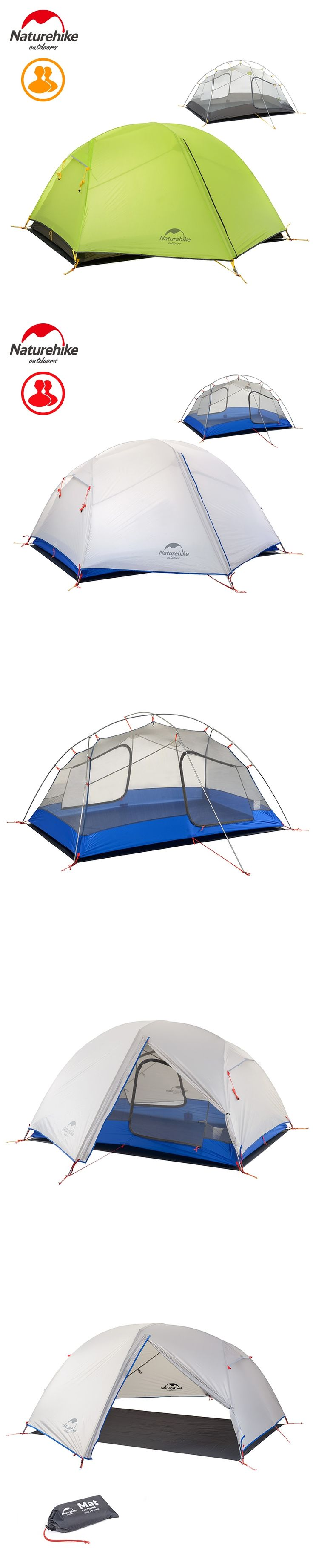 Naturehike 2 Person Outdoor Double-layer Tent Ultralight Camping Waterproof 3 Season Tent NH17T006-L