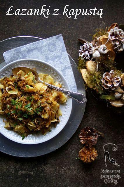 Kulinarne przygody Gatity - przepisy pełne smaku: Łazanki z kapustą i grzybami