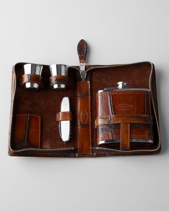 Flask Set at Neiman Marcus. **Why is this stuff for men? I'd love one of these too!