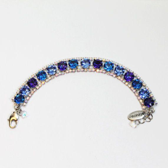 Royal Blue Braccialetto Swarovski Crystal qualcosa blu di TIMATIBO