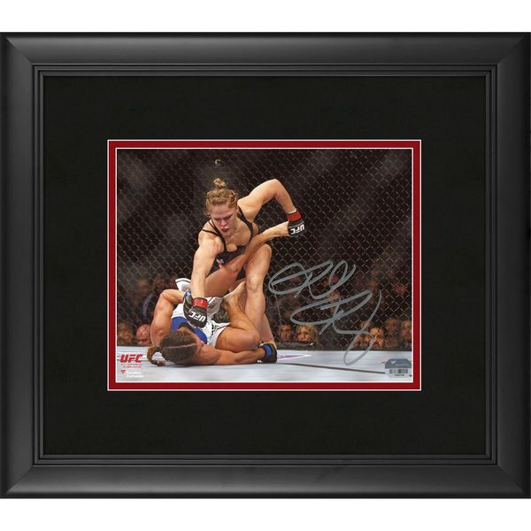 """Ronda Rousey Ultimate Fighting Championship Fanatics Authentic Framed Autographed 8"""" x 10"""" Horizontal Punching Down Photograph - $149.99"""