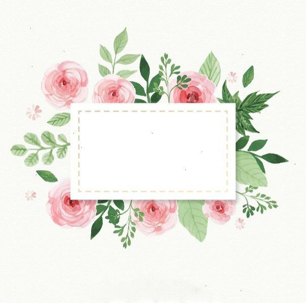 Sweet Shabby Vintage Home Pinterest Flower Frame Watercolor