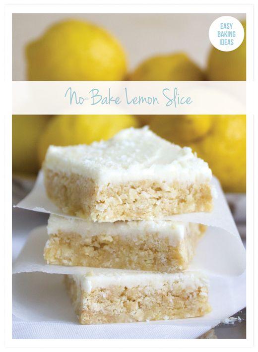 No-Bake Lemon Slice Bars - Easy Baking Ideas from Eliza Ellis