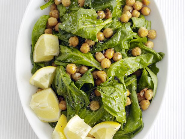 Spicy Chickpeas and SpinachFood Network, Spinach Salad, Side Dishes, Foodnetwork Com, Spinach Recipes, Dinner Side, Spicy Chickpeas, Healthy Side, Chickpeas Salad