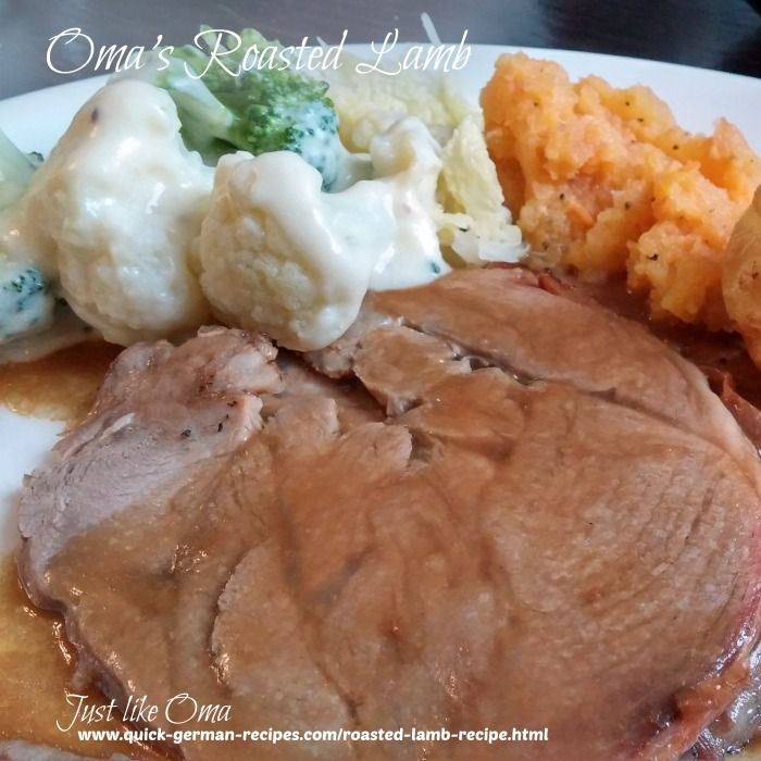 Roasted Lamb Recipe Made Just Like Oma
