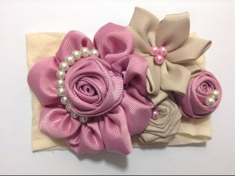 DIY-Como Hacer Rosas Flores en Tela/How To Make Easy Fabric Flower Roses/Роза - YouTube