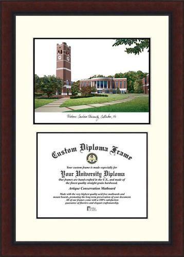 western carolina university diploma frame lithograph legacy series