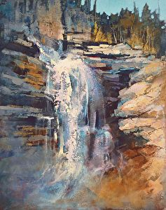 Linda Wilder - Panther Falls Study- Acrylic - Painting entry - February 2016 | BoldBrush Painting Competition