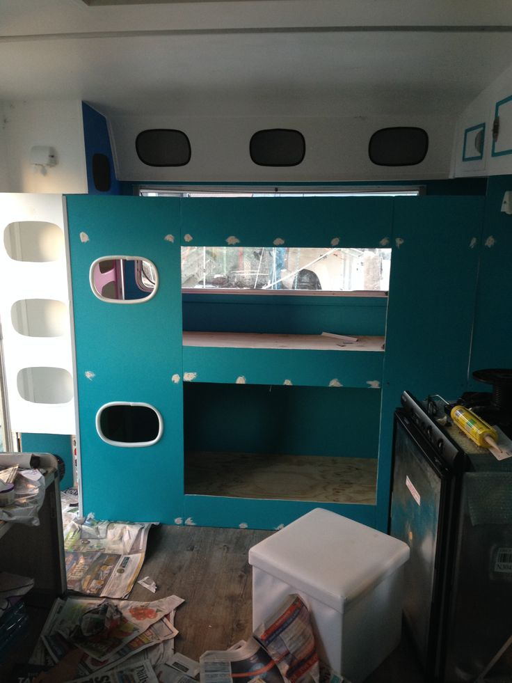caravan renovation triple bunk                                                                                                                                                                                 More