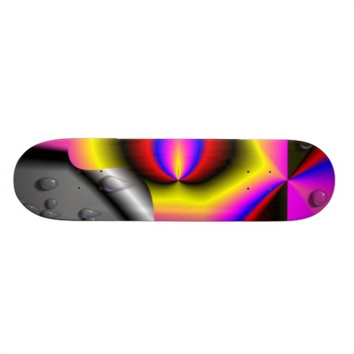 Colorful strange pattern skate decks