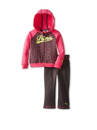 60% OFF Puma Girl's Hearts Hoodie Set (Fuchsia)