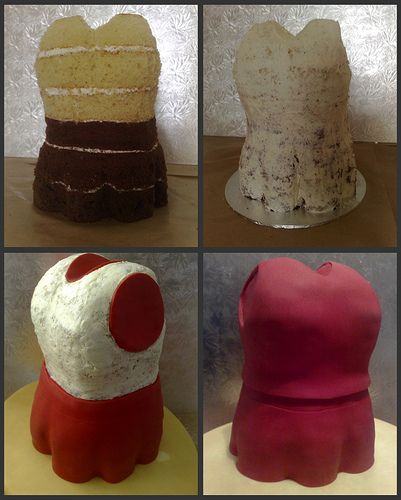 First 4 Stages of HSM Cheerleading Dress Cake | Flickr - Photo Sharing!