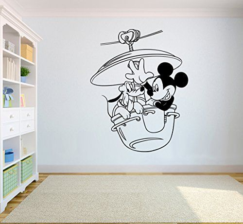 Mickey Mouse  Pluto Vinyl Art Cartoon Wall Disney Vinyl Sticker Mickey Mouse and Friends Wall Vinyl Decal Decor for Home Childs Kids Room Design mm6 ** Check out the image by visiting the link-affiliate link.