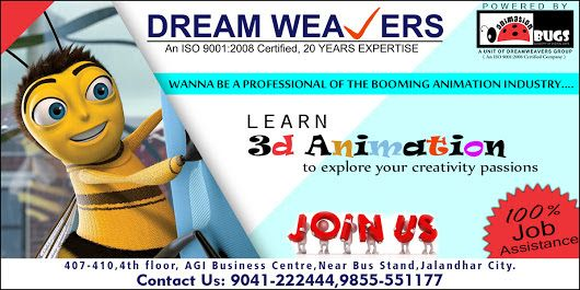 Animation Bugs is one of the leading 3D Animation Training Institute in Jalandhar. Our main objective is to deliver standardized, Job Oriented and real-time training based on industry trends. We target to provide high quality and complete study material in depth which is essential to impact on students for choosing us. Our training center is well-furnished with lab facilities and excellent infrastructure.