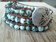 boho bracelet, love the colors and layers.