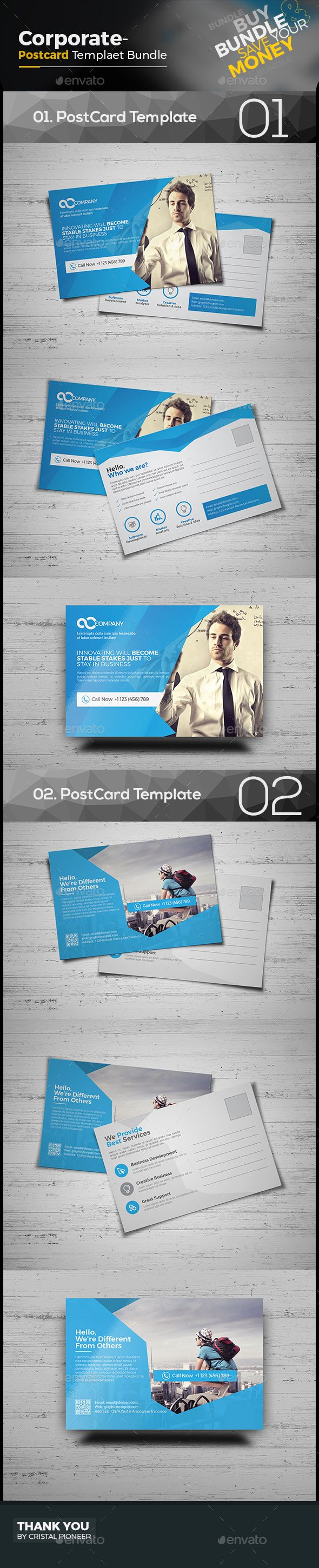 86 best images about Corporate Postcard Template on Pinterest