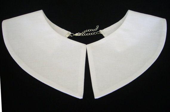 Wednesday Addams Detachable White Collar Hand Made by LittleBunga