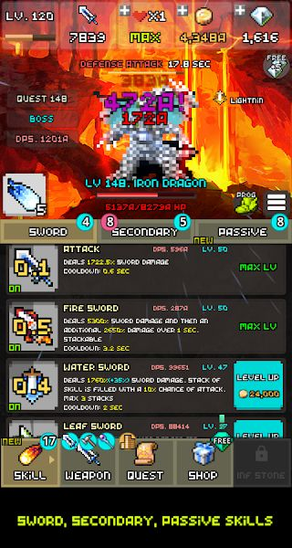 One Combo Sword - Grow your Sword v2.1.7 [Mod]  One Combo Sword - Grow your Sword v2.1.7 [Mod]  Necessities: 4.1 and up  Outline: When you get a refresh erasing the amusement may introduce the diversion information  QZ_DWF5IWQYZpJIEhBdT7jd-qjYkQlhYkY98SUfG  - Very Simple Idle Game  - Make ONE COMBO KILL before the beast assaults! When you are assaulted the amusement is finished  - More than 30 Growable Skills  - Grow your sword by Level Up Improving Enchanting Evolving and Making it…