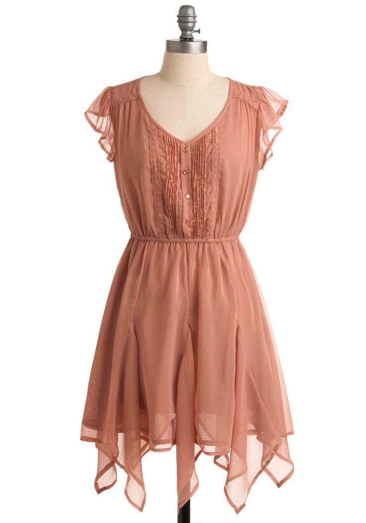 Chiffon pink dress