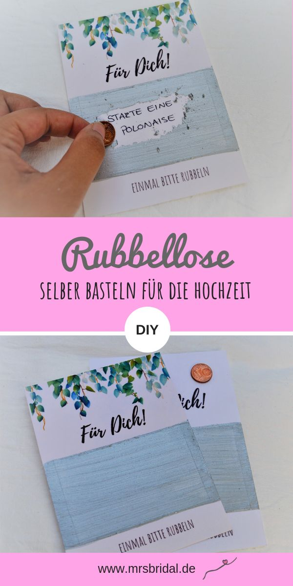 Make scratchcards for the wedding yourself – Einladung