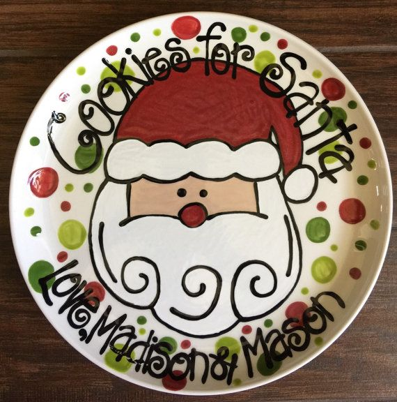 Cookies for Santa Plate by BearandDoodles on Etsy