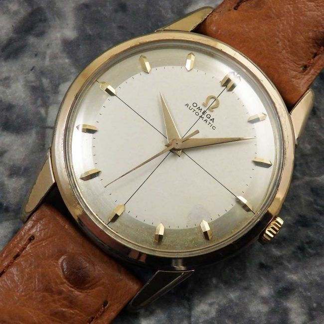 オメガ アンティーク ラウンド メンズ 2トーンダイアル 1959年 自動巻き 腕時計