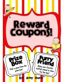 33 Classroom Reward Coupons and Brain Break ideas $2.50