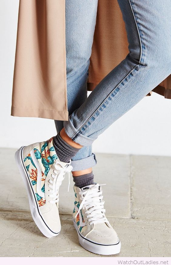 Awesome floral Vans