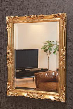 【楽天市場】ゴールド 金 金箔 仕立ての 鏡 ミラー 壁掛け鏡 壁掛けミラー ウオールミラー;MaB-2r65C-AC(フレームミラー 壁掛け 壁付け 姿見 姿見鏡 壁 おしゃれ エレガント 化粧鏡 アンティーク 玄関 玄関鏡 洗面所 トイレ 寝室 ):鏡 ミラー 洗面 インテリア IVY
