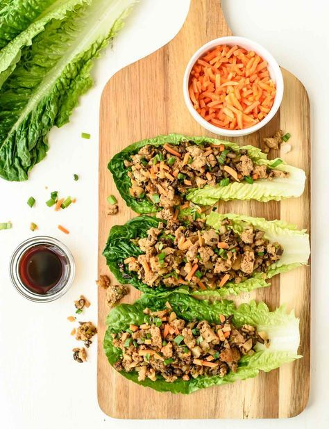 A copycat recipe for PF Changs lettuce wraps that are completely vegan, gluten free, dairy free and healthy! All the same addictive flavor of the famous restaurant version for a fraction of the calories.