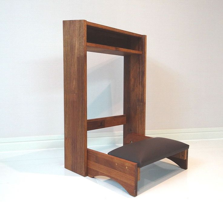 Meditation Altars For Sale: Folding Prayer Kneeler Wooden Table Prie Dieu Church