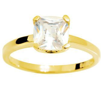 Zirconia Solitaire Ring - BEE-24931-CZ