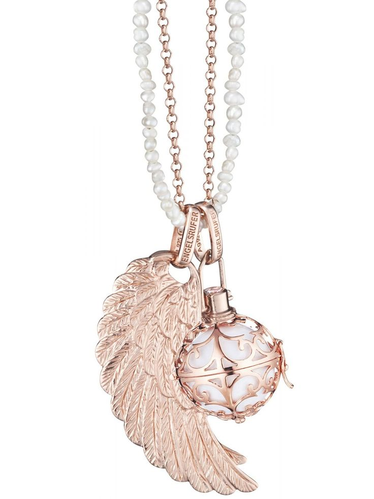 Engelsrufer Collier with Sound-Ball and Feather 78377
