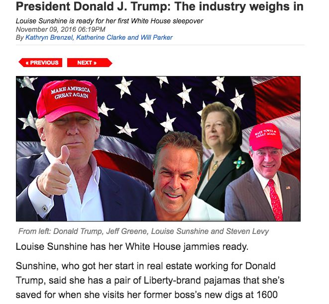 THE NYC REAL ESTATE INDUSTRIES RESPONSE TO TRUMP WINNING, FROM THE REAL DEAL