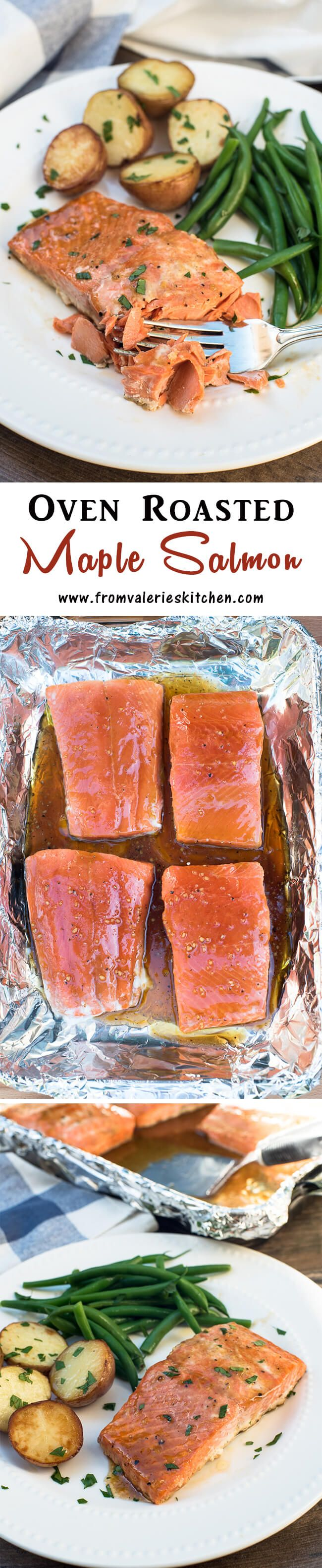 Get this delicious salmon from your freezer to your dinner table in 25 minutes! ~ http://www.fromvalerieskitchen.com