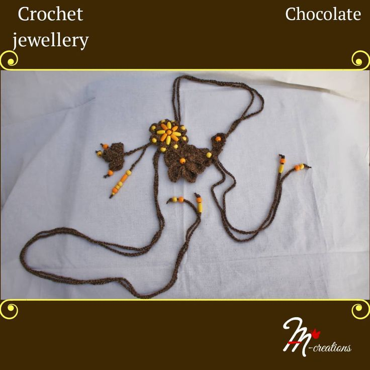 Excited to share the latest addition to my #etsy shop: Crochet jewellery - Chocolate #jewelry #necklace #handmade #gifts #yarnspirations #yarnstories #yarnart #handmadegiftsideas #yarn #handmadejewelry #withbeadsknitting #fashion #crochetjewelry #crochet #jewelry #handcrafted #artisan #crochetjewelryforbravewomen #necklace #handcraftedjewelry #handcraftedgifts #onlyforyou #madewithcare #bohojewelry #crochetnecklace #style https://etsy.me/2JtgwnY