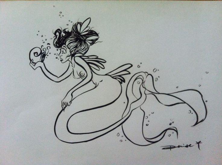 Art From Denise R. Artworks Link: https://www.facebook.com/DeniseR.Artworks Inktober Day 2