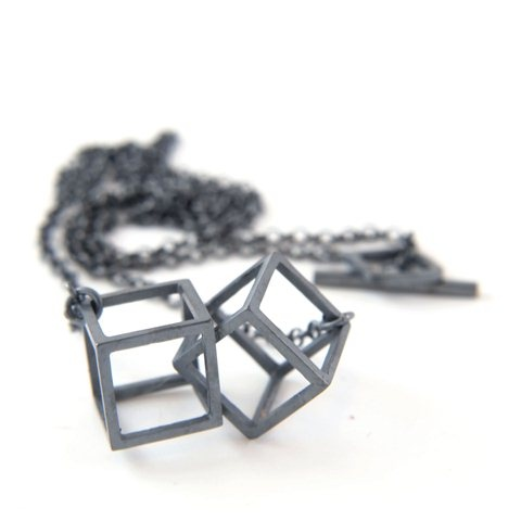 2 Cubes necklace by Stone Glint and Bone