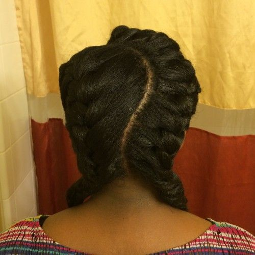 2014 relaxed black hair styles | Protective style for relaxed or natural hair!