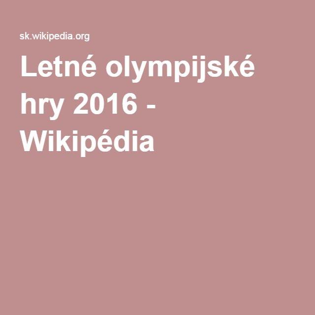 Letné olympijské hry 2016 - Wikipédia