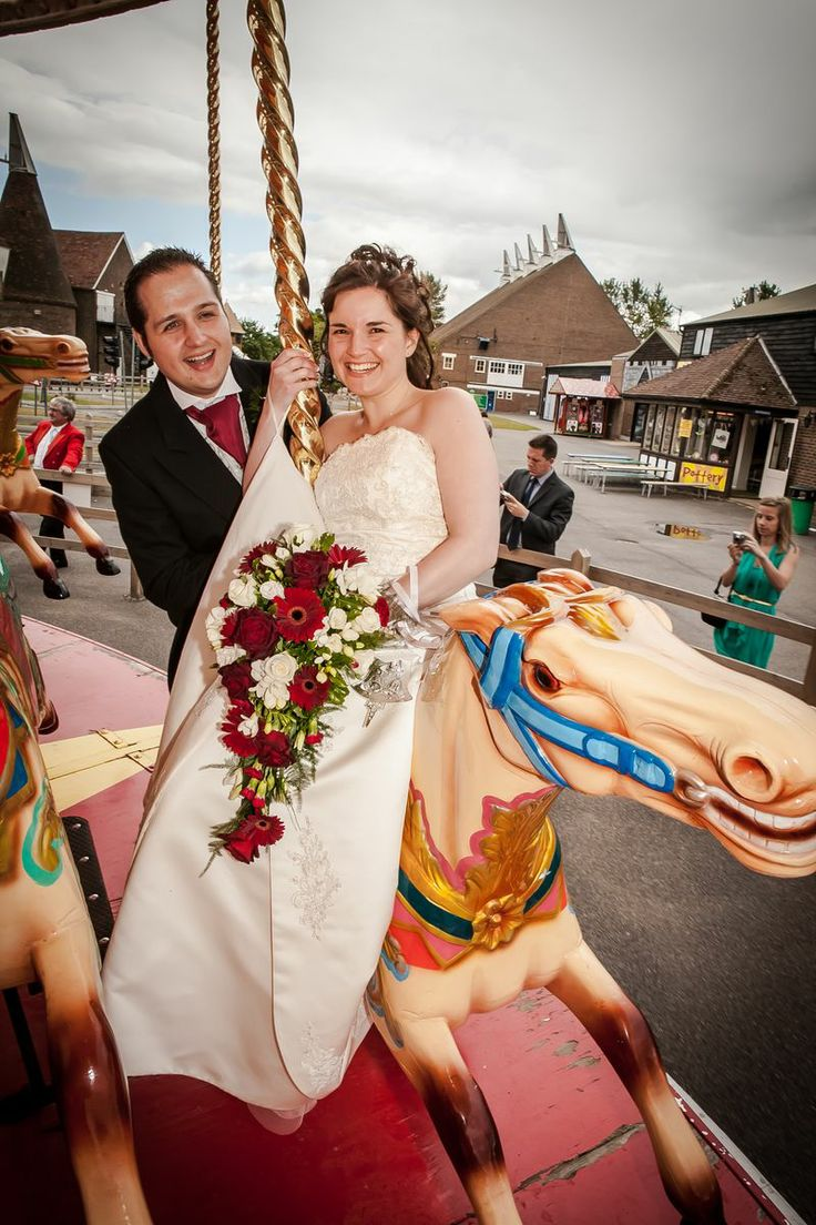 Bride and groom on the carousel (re-worked 2014)