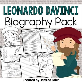 Leonardo da Vinci Biography PackLeonardo da Vinci was an influential man who made a huge difference in the art world. A few of his pieces of art of the most famous in the world. This biography pack covers important facts about Leonardo da Vinci's life for students to learn.