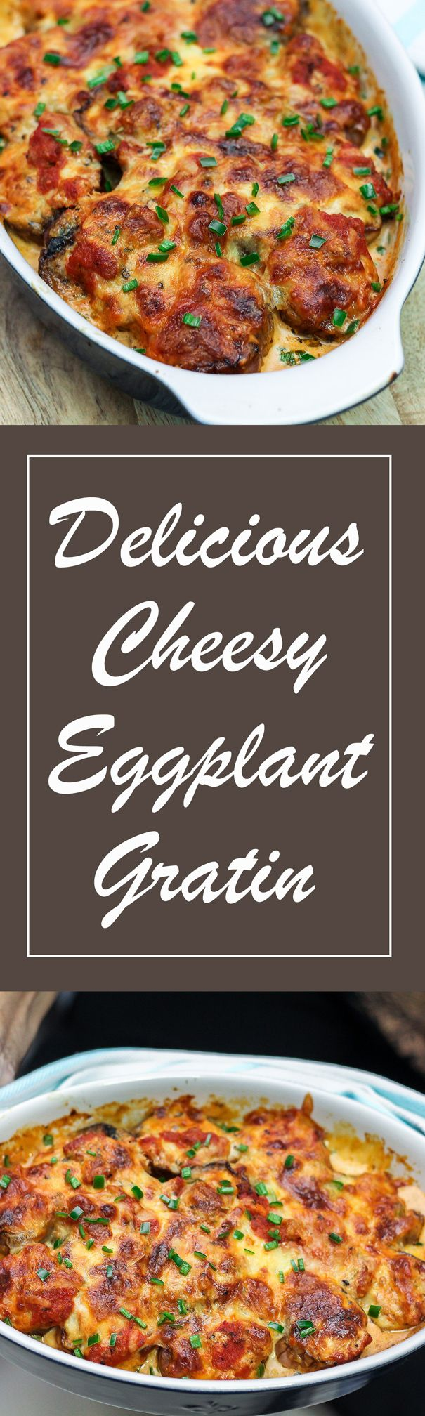 I love how simple this Cheesy Eggplant Gratin is. It is an elegant dish that is perfect whether you are hosting a dinner or bringing over for the person who would be hosting an event.