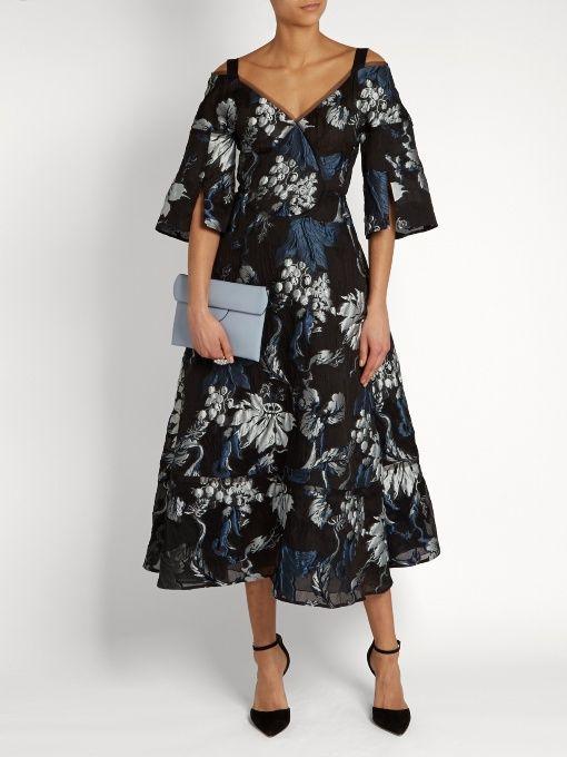 Erdem Karol Vanguard matelassé dress