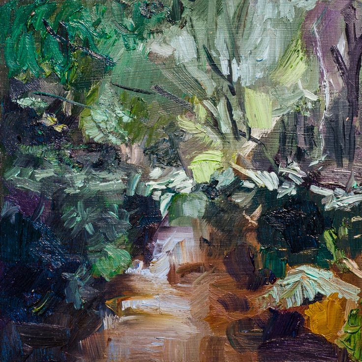 CATHY-LAYZELL.-In-the-Forest-VII-2016.-Oil-on-board.-180-x-180mm.-Unframed.jpg (800×800)