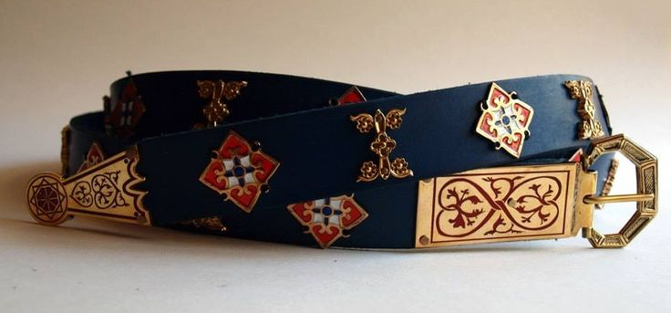 Brass and bronze medieval belt reproduction