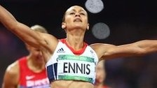 Jessica Ennis wins gold for Team GB, after her disappointment in the last Olympics in Beijing